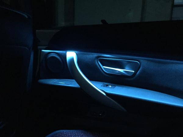 宝马320li 英国baf音响,氛围灯,包围改装案例